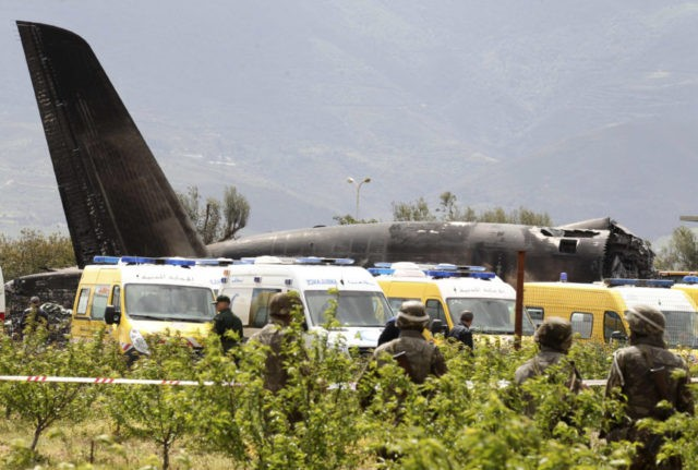 The Latest: Military plane crashes in Algeria, 257 dead