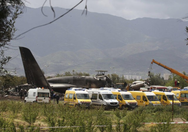 Algerian military plane crashes after takeoff, killing 257