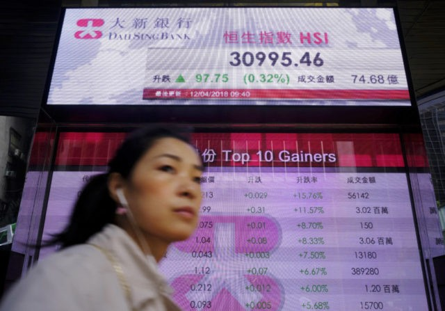 Asian, European shares lower as geopolitical concerns weigh