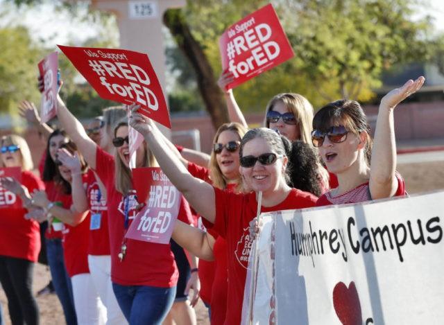 Defiant no more, Arizona governor bends to teacher demands