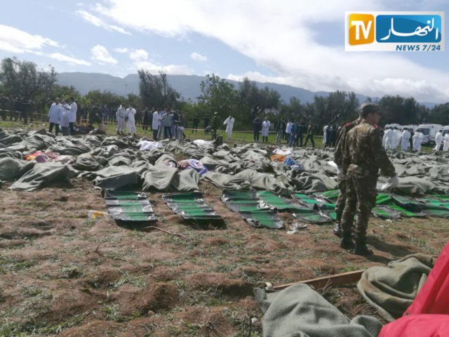 Algeria crash victims being identified, no word on probe
