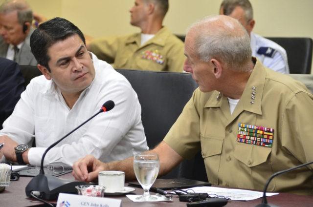 General John Kelly, Juan Orlando Hernandez