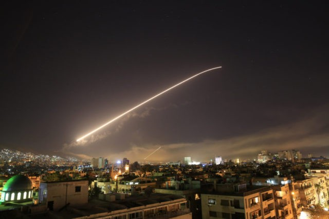 Thunder-like explosions rock Syrian capital amid strikes