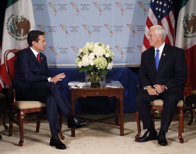 Enrique Pena Nieto, Mike Pence
