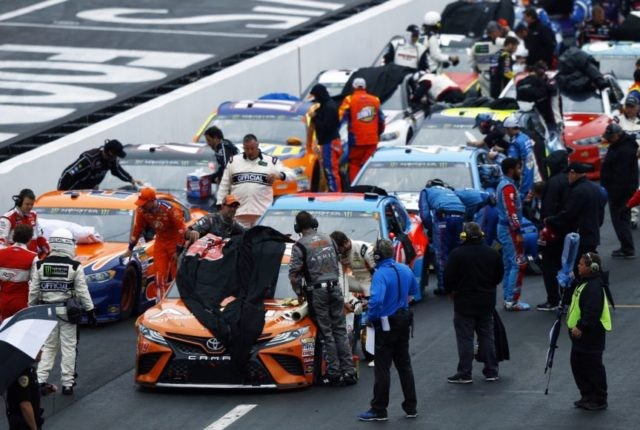 The Latest: Red flag out at Bristol after 49 laps for rain