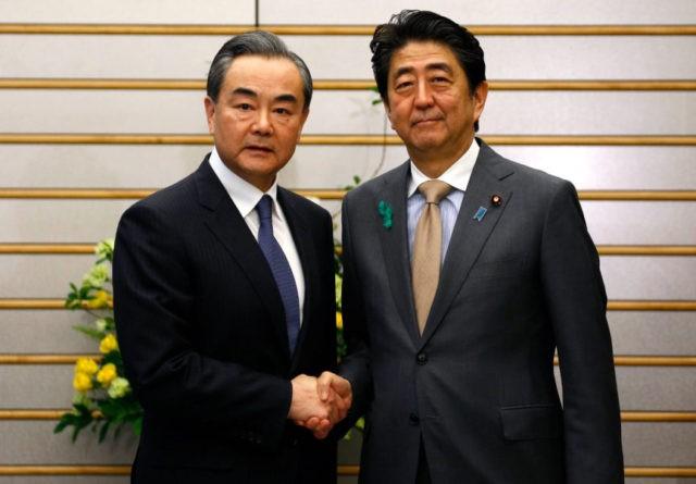 Wang Yi, Shinzo Abe