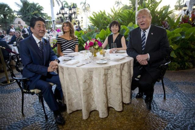 Donald Trump, Melania Trump, Shinzo Abe, Akie Abe