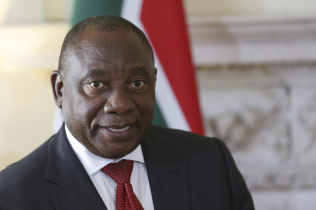 South Africa's leader cuts short UK visit after protests