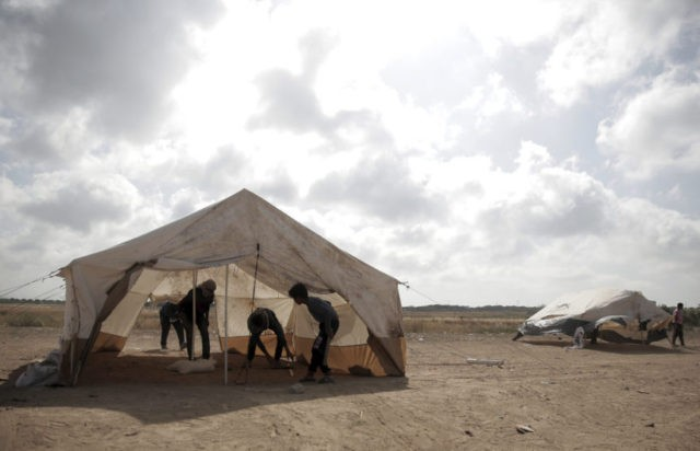 Israeli leaflets tell Gaza residents to shun border protest