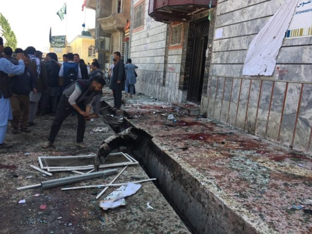 The Latest: Toll from Kabul bombing climbs to 57 dead
