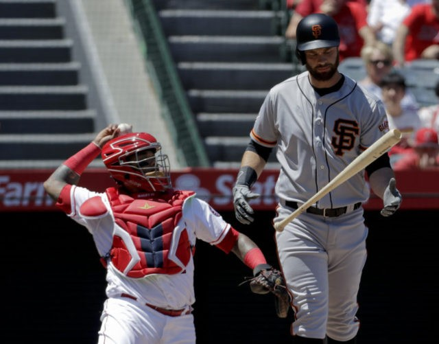 Belt has 21-pitch at-bat, later homers as Giants beat Angels