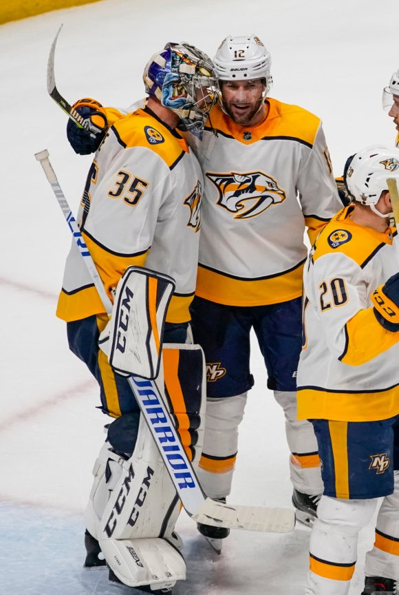 Lured out of retirement, Preds' Mike Fisher chasing 1st Cup