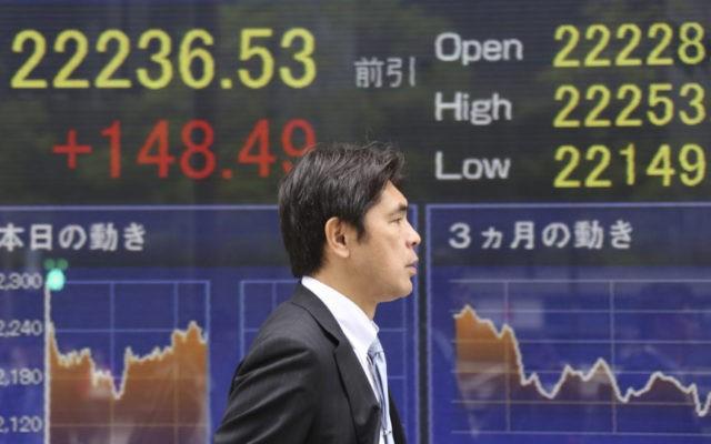 Asian shares advance as US bond yields push dollar higher