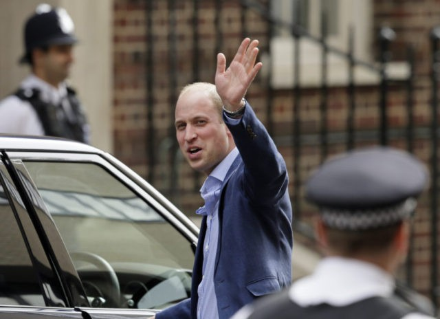 The Latest: Prince William leaves hospital after son's birth