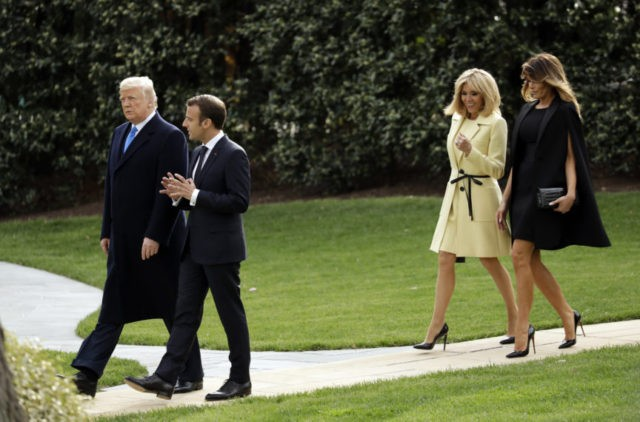 The Latest: Trumps host Macrons for dinner at Mount Vernon