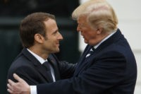 Donald Trump, Emmanuel Macron, Melania Trump, Brigitte Macron