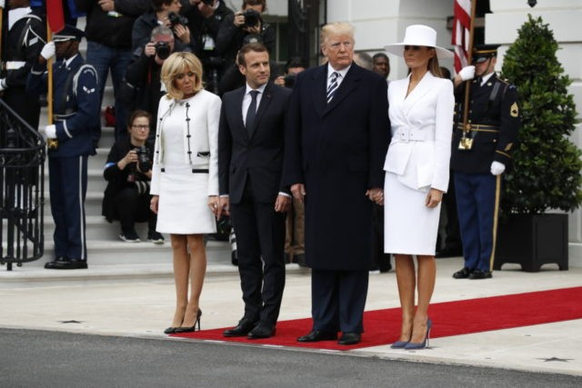The Latest: Trump welcomes Macron at White House