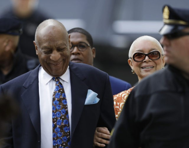 The Latest: Cosby arrives at courthouse with wife Camille