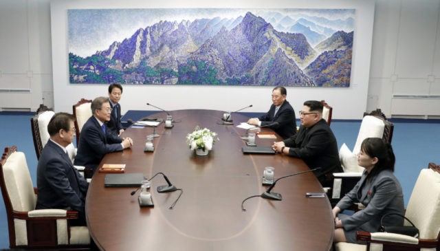 Moon Jae-in, Kim Jong Un, Kim Yo Jong
