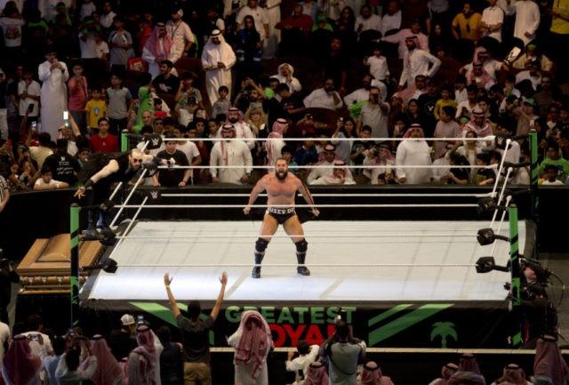 Women, children attend wrestling event in Saudi Arabia