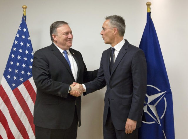 Pompeo dives into NATO diplomacy as allies confront Russia