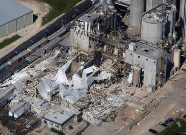 Flames shot out of grinder before Wisconsin plant explosion