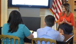 Melania Trump talks struggles, feelings with students in listening session