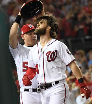 Nationals' Bryce Harper caught sculpting hair by brother