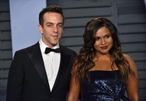 Mindy Kaling shows off flowers from B.J. Novak