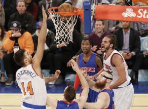 Knicks' Joakim Noah celebrates Earth Day with waterfall walk