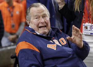 Former President George H.W. Bush moved out of ICU