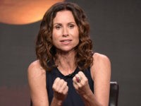 "Minnie Driver participates in the ""Speechless"" panel during the Disney/ABC Television Critics Association summer press tour on Thursday, Aug. 4, 2016, in Beverly Hills, Calif. (Photo by Richard Shotwell/Invision/AP)"