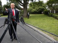 President Donald Trump on the South Lawn of the White House in Washington, Wednesday, May 23, 2018