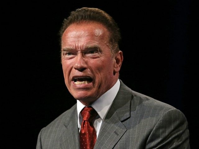 Arnold Schwarzenegger speaks at the 2013 Financial Education Summit at the Melbourne Convention Centre on June 14, 2013 in Melbourne, Australia. Schwarzenegger is the keynote speaker at the 21st Century Financial Education event. (Photo by Scott Barbour/Getty Images)