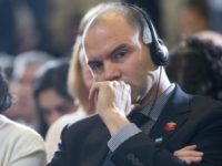 Deputy National Security Adviser For Strategic Communications Ben Rhodes, right, and National Security Adviser Susan Rice, use headphones to listen to the translation of Argentinian President Mauricio Macri remarks during their joint news conference with President Barack Obama at the Casa Rosada in Buenos Aires, Argentina, Wednesday, March 23, 2016. …