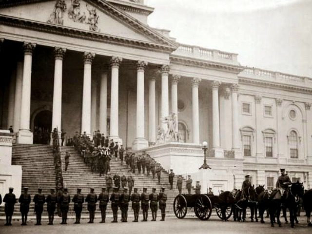 Coffin of the Unknown Soldier Carried from Capitol Steps Armistice Day, 1921