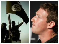 Collage of ISIS and Mark Zuckerberg