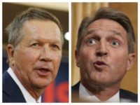 Collage of John Kasich and Jeff Flake