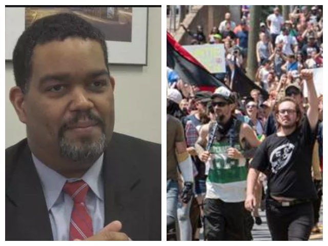 Collage of Charlottesville, Virginia, city manager and Charlottesville deadly rally