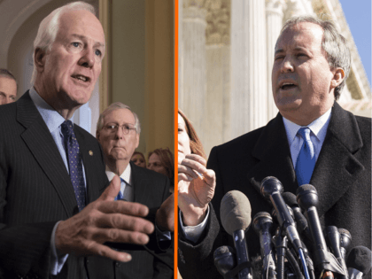 U.S. Senator John Cornyn and Texas Attorney General Ken Paxton. (Getty Photos)