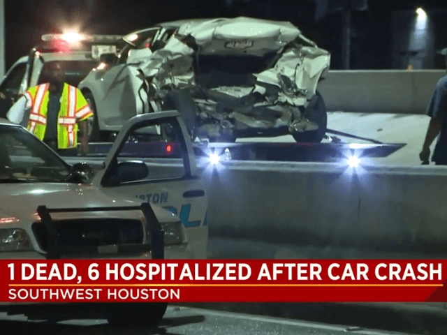 One person dead, two injured after twice-deported Guatemalan allegedly crashed into the car at 70 mph. (Photo: KPRC NBC2 Video Screenshot)
