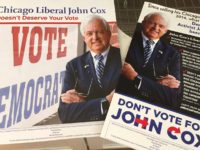 Anti-John Cox mailers (Joel Pollak / Breitbart News)