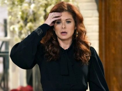 "Will & Grace star Debra Messing fired a sweeping attack on the President Donald Trump's administration on Tuesday, claiming its members are ""all going to hell."""