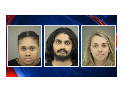 Dhruv Pathak, 24; Landon Rice, 23; and VanaMary Isaac, 26, were arrested Tuesday for burning an American flag during a May Day protest in an uptown park in Charlotte, North Carolina, police said.