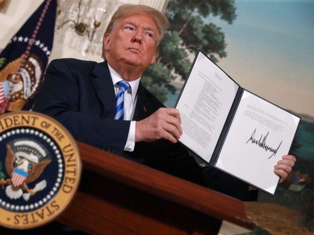 Donald Trump leaves Iran deal (Chip Somodevilla / Getty)