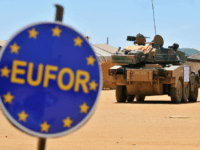 French soldiers are pictured at the French camp 'Etoile bleue' (blue star) in Farchana, eastern Chad, on March 13, 2009. United Nations forces took over command on March 15, 2009 from European Union peacekeepers to protect refugees and displaced people in Chad and the Central African Republic. The EU's EUFOR …