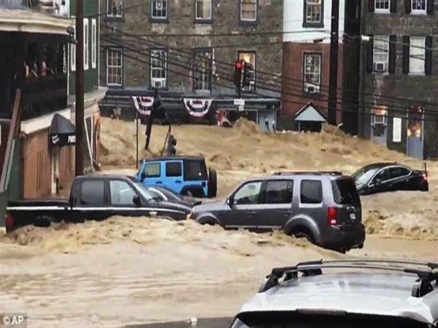 Massive Flooding Reported In Historic Ellicott City