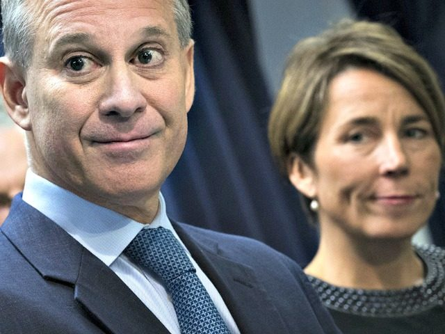 Eric Schneiderman and Woman