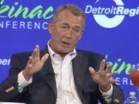 Former Speaker John Boehner