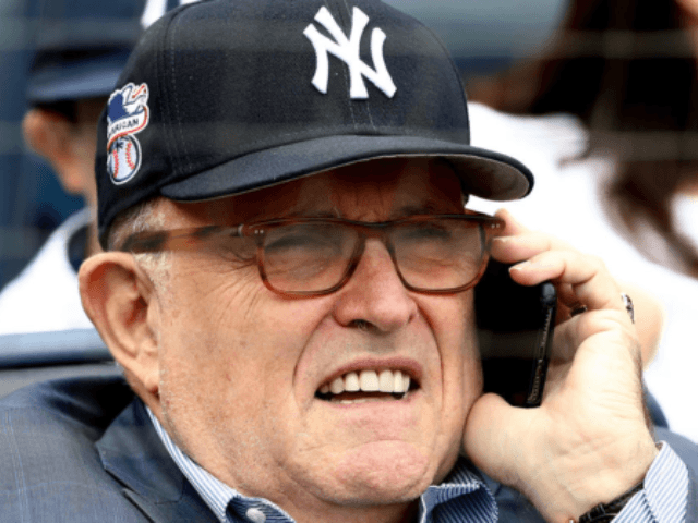 Rudy Giuliani, President Trump's lawyer, celebrates birthday at Yankees-Astros game